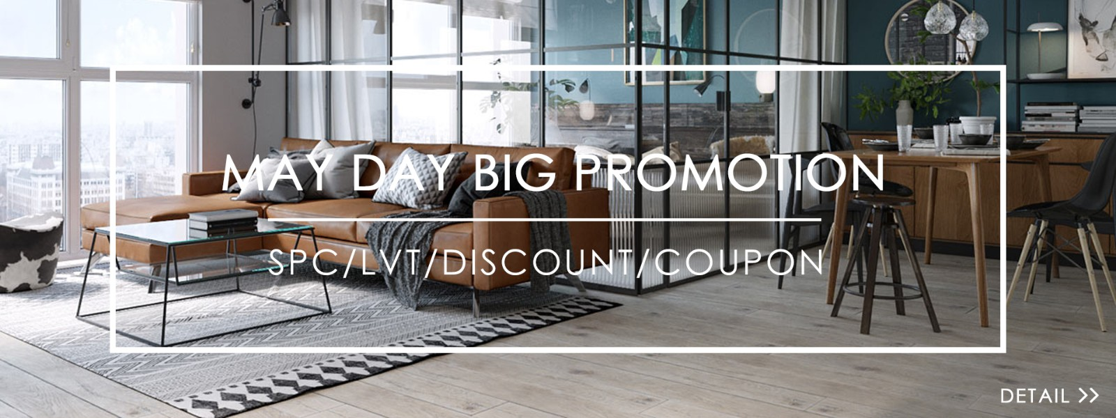 May day promotion about SPC flooring
