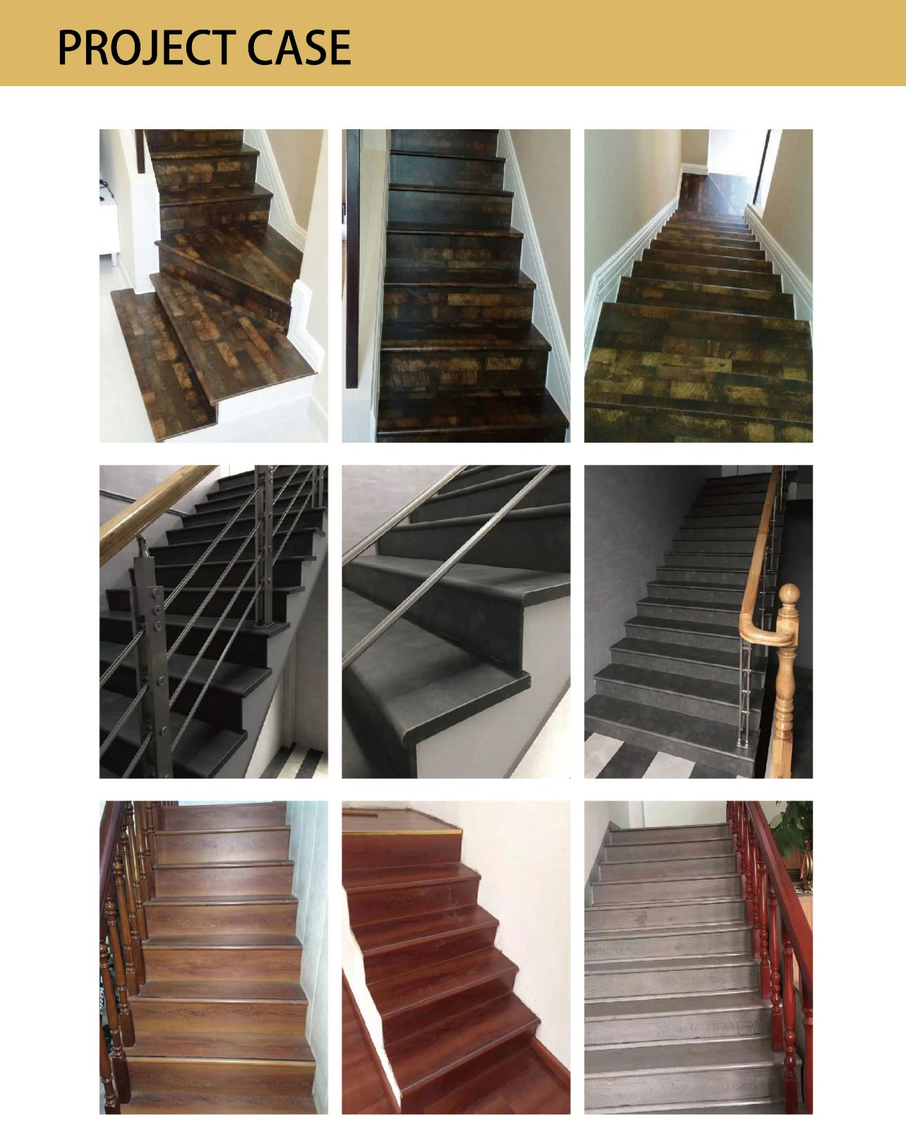 New Collection Laminate WPC SPC Stair Tread